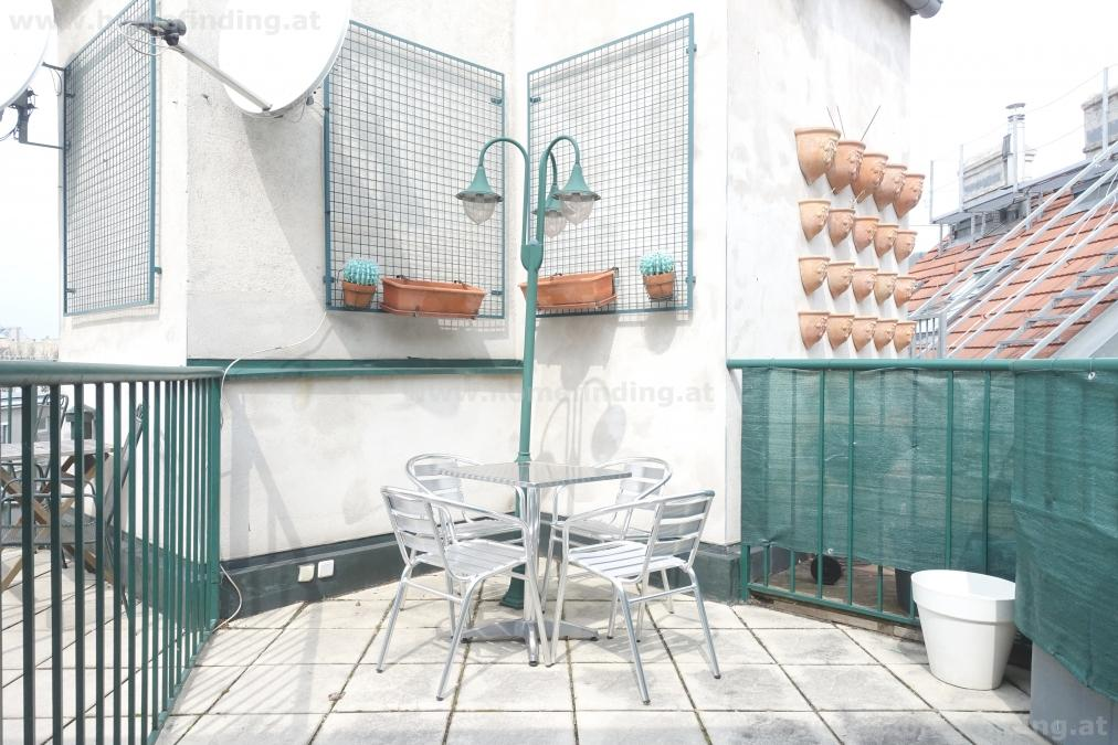 U1-Nähe: möblierte Terrassenmaisonette - 2 Schlafzimmer