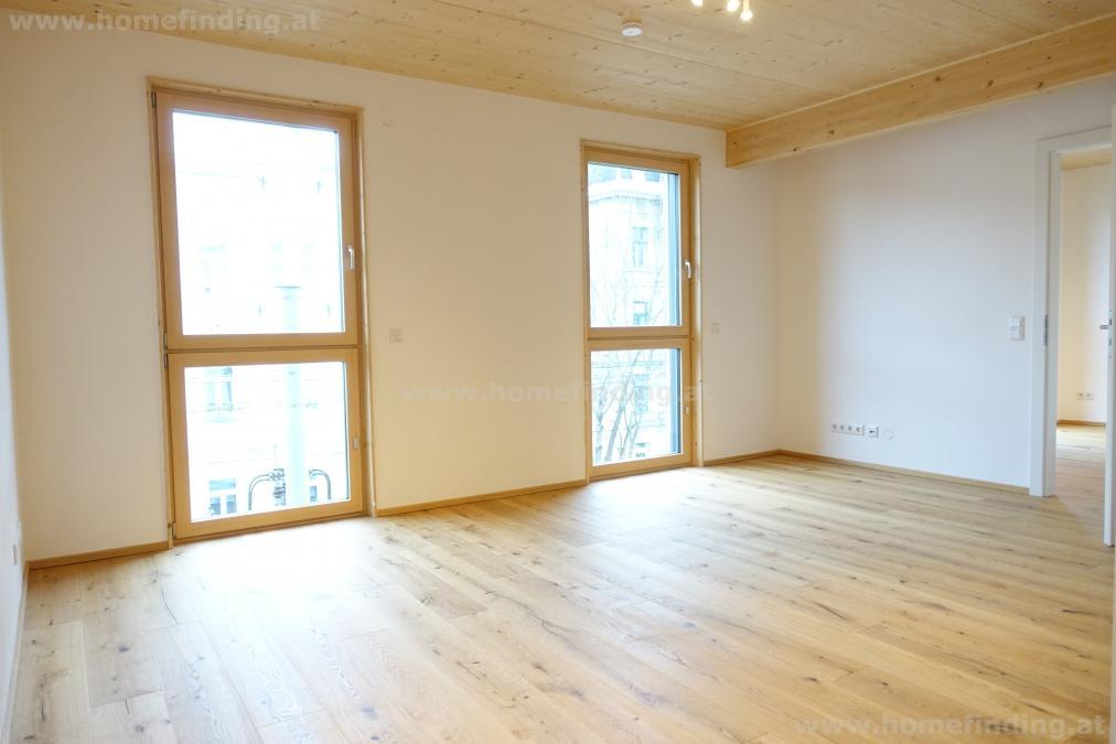 Erstbezug: Wohnen im Holzhaus I 2 Zimmer - straßenseitig