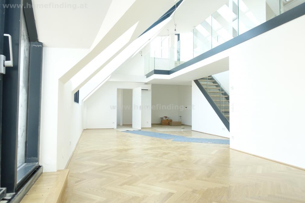 Neubaugasse: penthouse with 3 terraces
