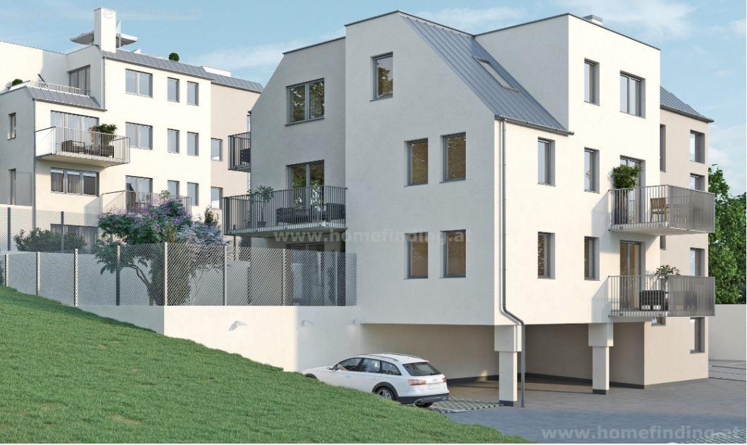 Erstbezugstraum in Hinterbrühl: Gartenwohnung nahe den Weinbergen