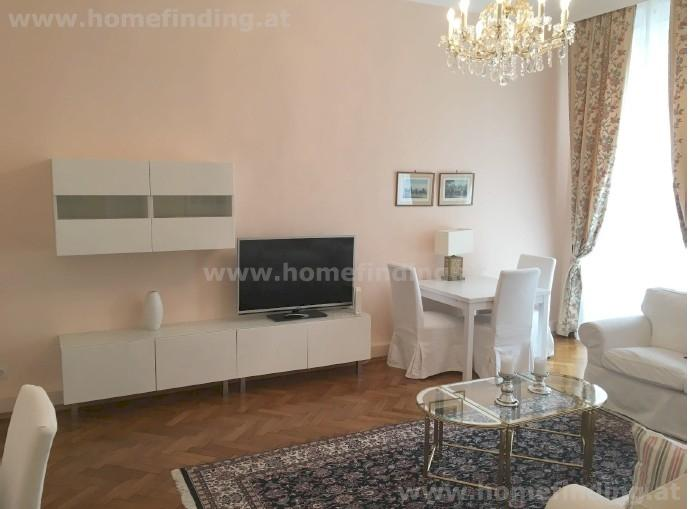 furnished 2 room apartment with balcony