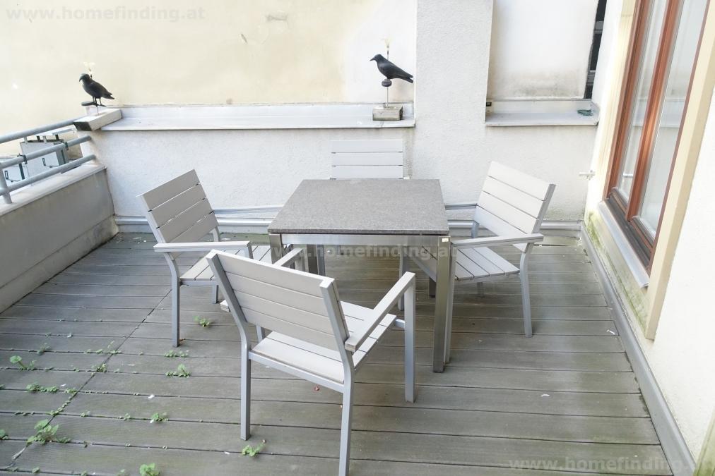 möblierte 4 Zimmer mit Terrasse im Altbau