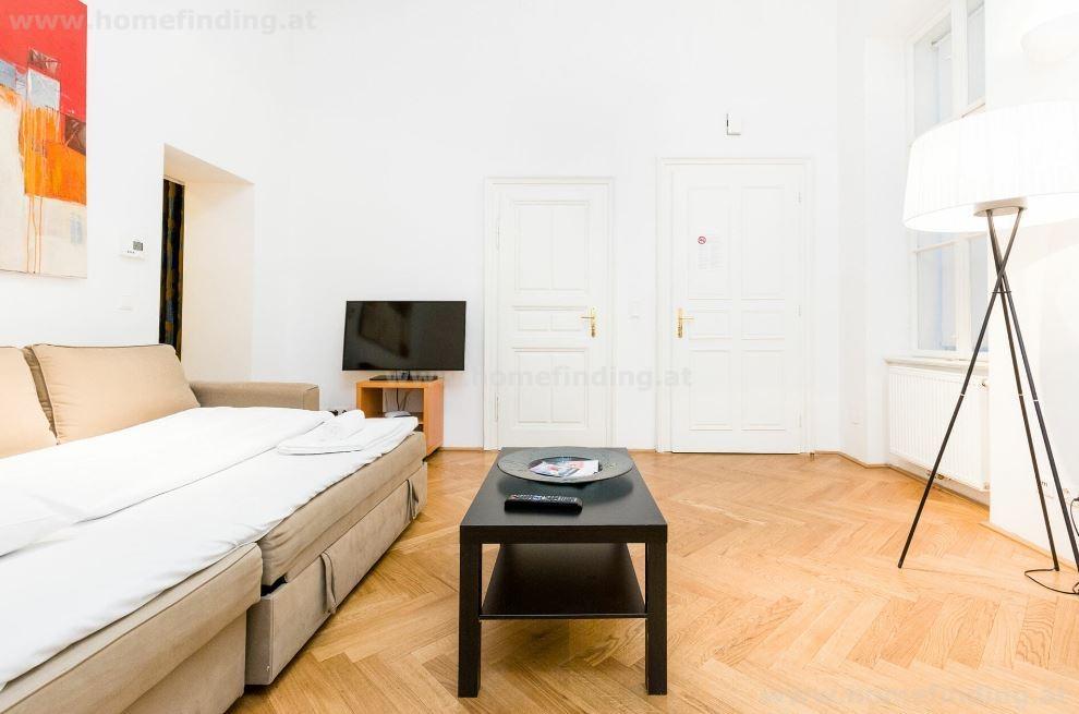 Möblerte 2-Zimmerwohnung am Graben