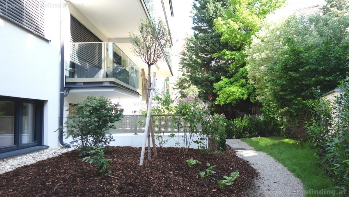 moderne Gartenwohnung beim Roten Berg