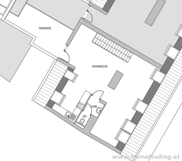 Rilkeplatz: Terrassenwohnung- 4 Schlafzimmer - 5 Jahre befristet