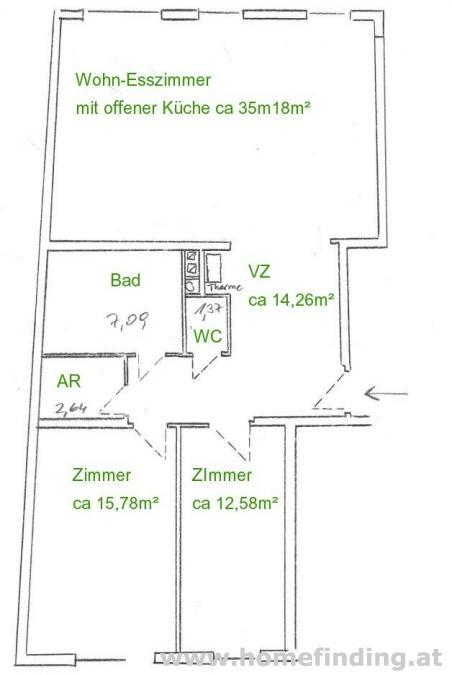 Halbgasse: 3-Zimmerwohnung mit Gartenmitbenützung - befristet