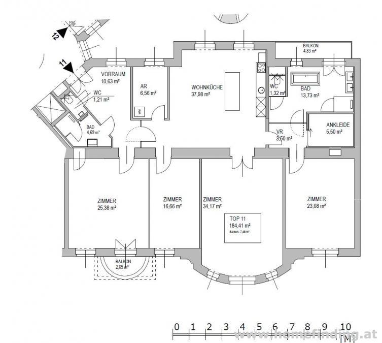 nahe Obkircher Markt: 5-Zimmer-Altbauwohnung mit Klopfbalkon - unbefristet