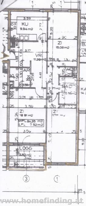 helle 3-Zimmer-Loggiawohnung nahe U4 - befristet