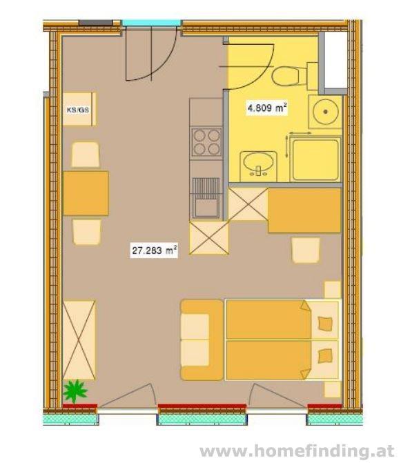 Erstbezug: Wohnen im Holzhaus I 1 Zimmer - straßenseitig