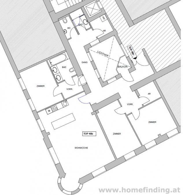 4 Zimmer Wohnung bei der Mariahilfer Straße - unbefristet
