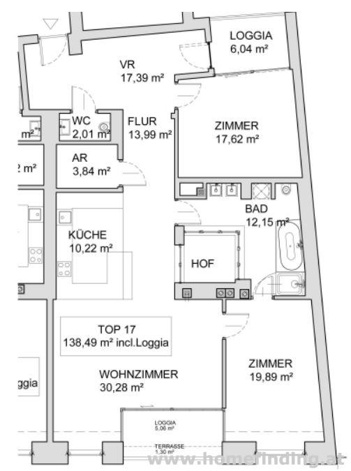 Erstbezug: Loggiawohnung nahe Museumsquartier - unbefristet