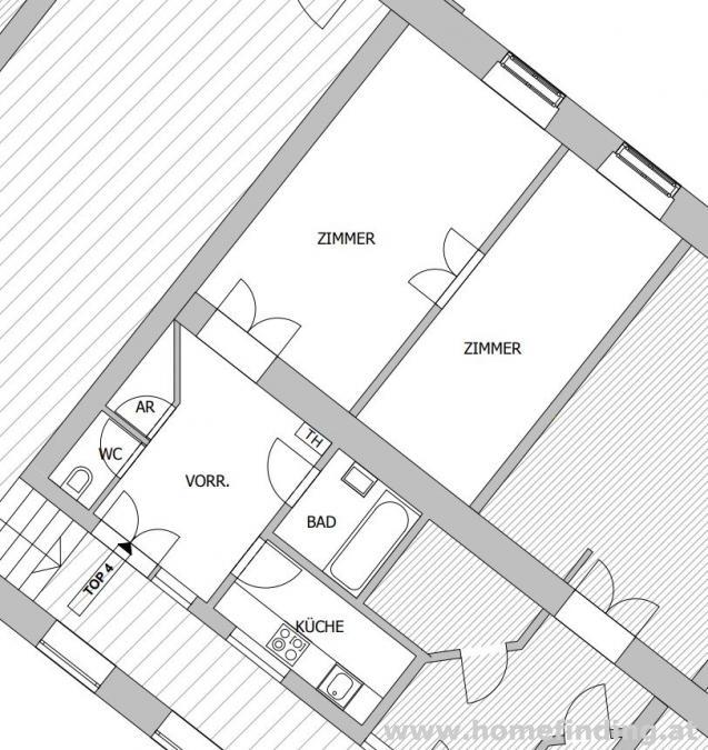 Leben beim Rochusmarkt: schöne 2 Zimmerwohnung - unbefristet