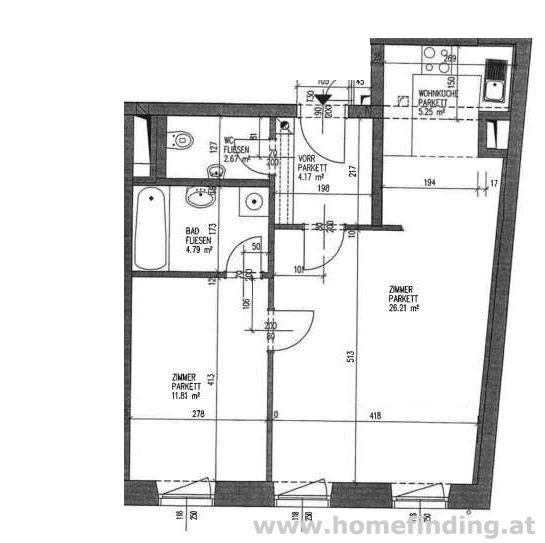 hübsche 2-Zimmerwohnung nahe Schottenring - 5 Jahre befristet