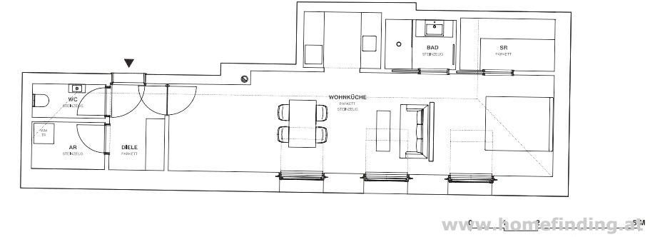 Fußgängerzone: helle 2-Zimmer/ hofseitig/ unbefristet