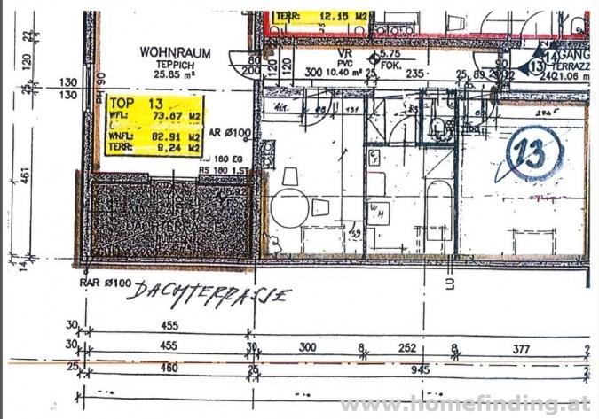 Terrassenwohnung in Aspern - 3 Zimmer - befristet