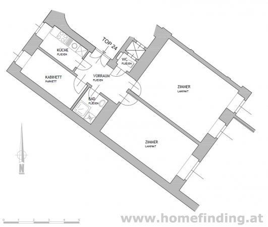 Altbauwohnung in ruhiger Innenhoflage (Hochparterre)