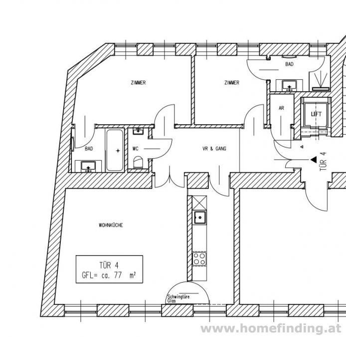 Erstbezug I saniert: 3 Zimmer nahe Salzgries - unbefristet