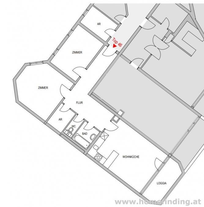 Wohnen beim Juridikum: 3-Zimmer-Loggiawohnung - befristet