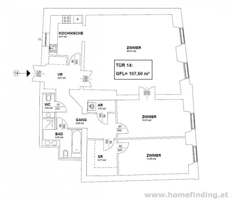 schöne 3 Zimmer Altbauwohnung nahe Stephansplatz