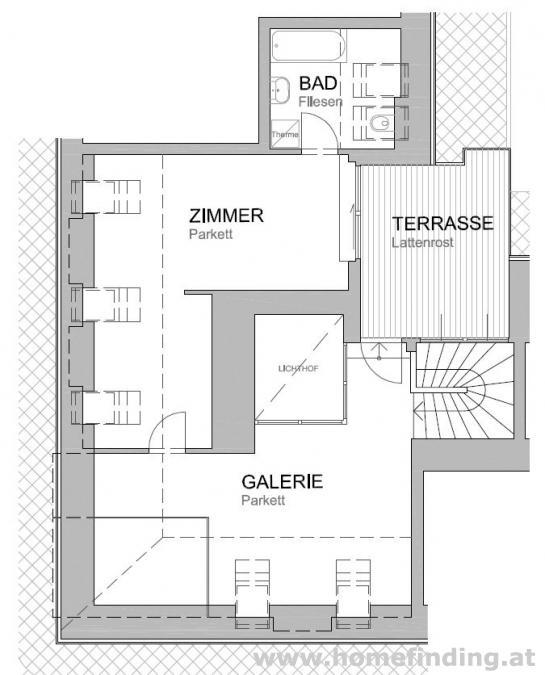 Terrassenmaisonette im Altbauhaus