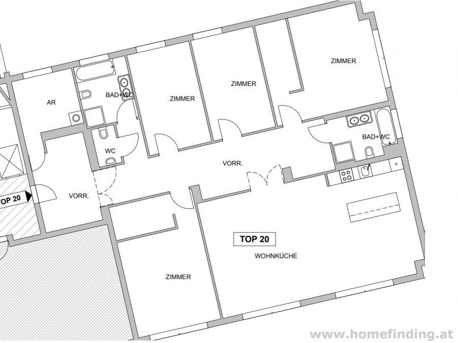 tolle 5-Zimmerwohnung beim Modenapark - 5 Jahre befristet