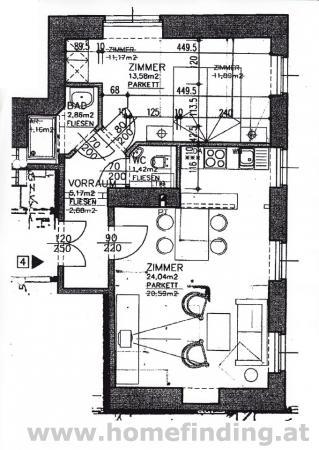 möblierte 2-Zimmerwohnung nahe dem Saarplatz