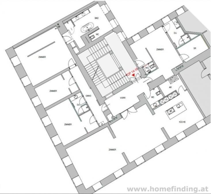 nahe Minoritenplatz: sehr schöne Großwohnung im Herzen Wiens