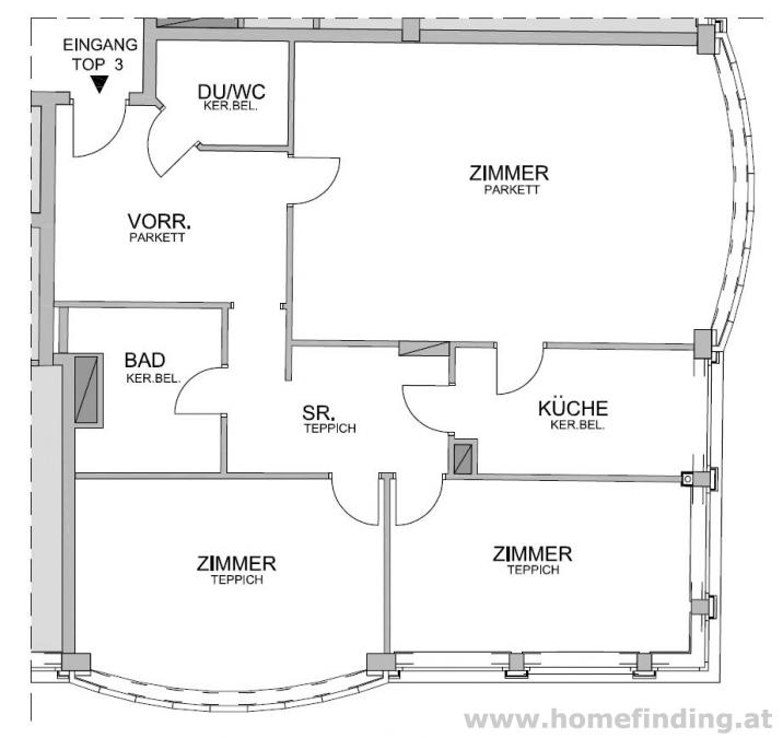 Votivkirche:  schöne 3-Zimmerwohnung