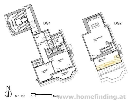 Maisonette mit 2 großen Terrassen