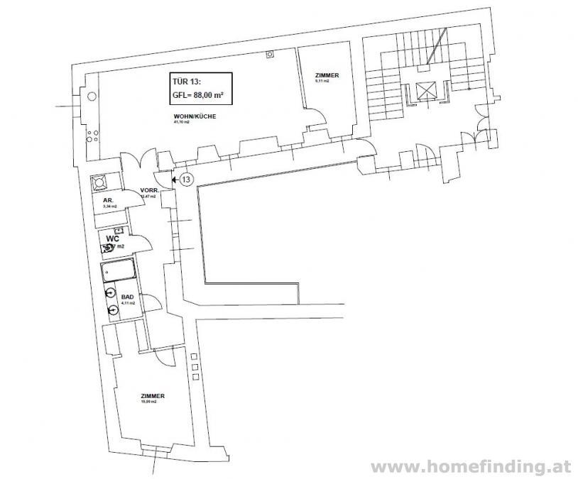 tolle 3 Zimmer Wohnung direkt im Zentrum - unbefristet