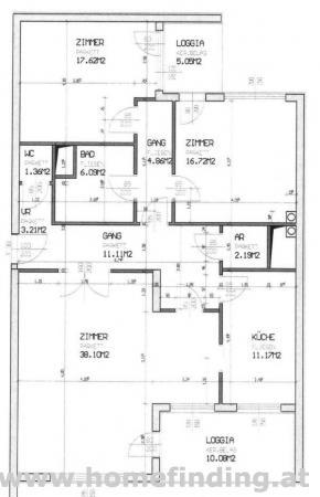 Geräumige Loggiawohnung - 3 Zimmer