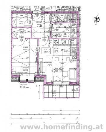exklusive 2 Zimmer-Balkonwohnung - befristet