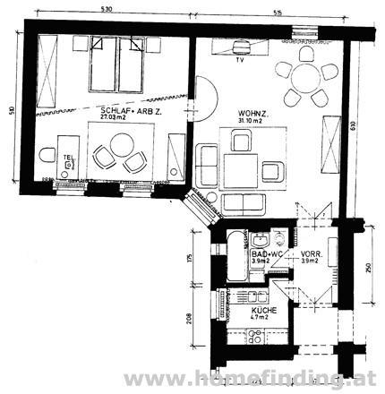 Schaumburgergasse: voll möblierte Altbauwohnung