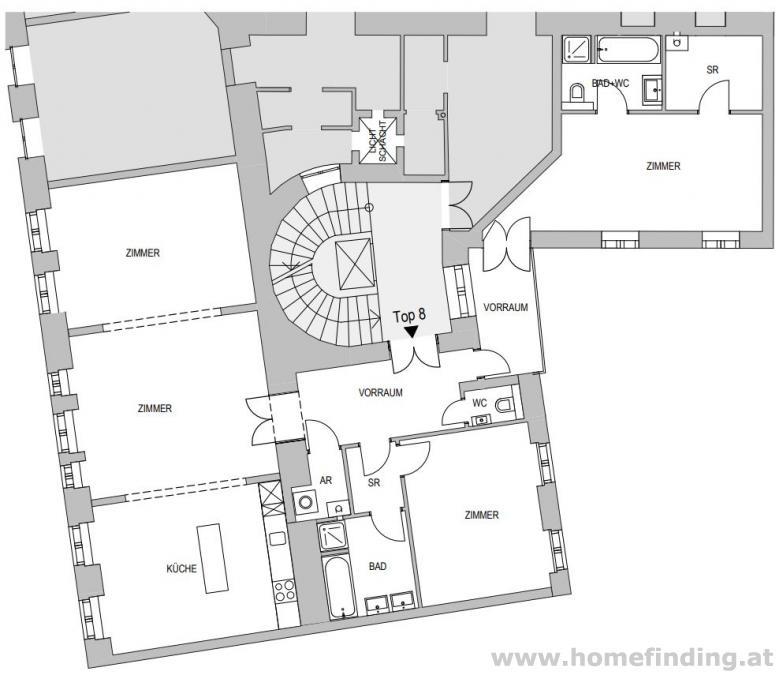 große Altbauwohnung nahe dem Schwedenplatz - unbefristet