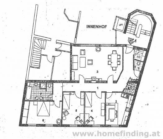4-Zimmerwohnung nahe dem Lycee
