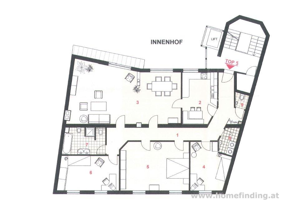 4-Zimmerwohnung nahe Lycee- befristet