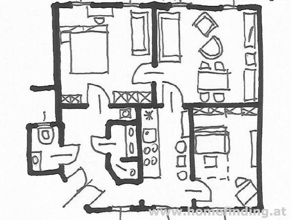 möblierte 3-Zimmerwohnung