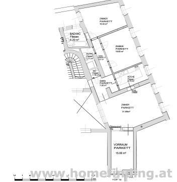 Votivkirche: 3-Zimmer-Altbauwohung - unbefristet