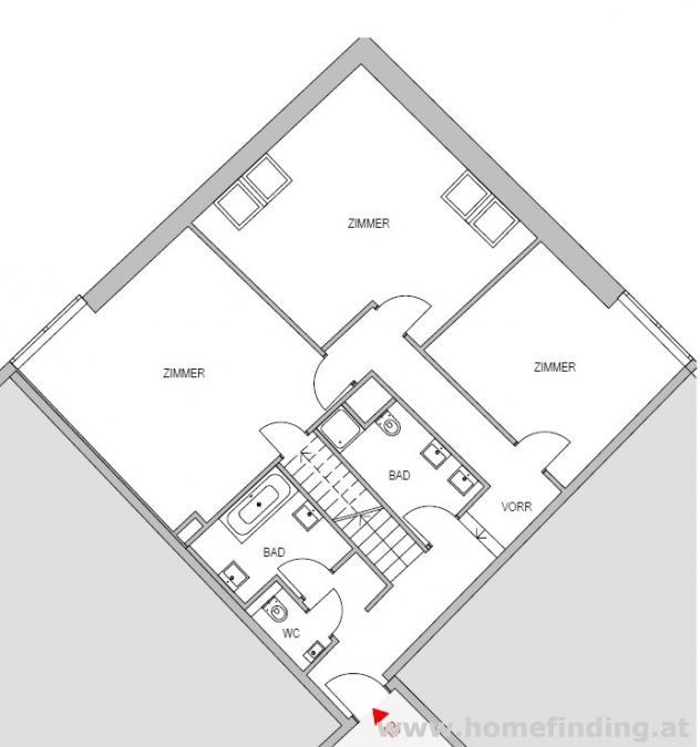 tolle 4 Zimmer-Maisonette am Schwarzenbergplatz - befristet