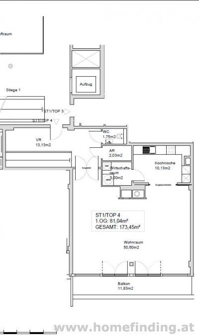 4-Zimmer Balkonwohnung in ruhiger Lage
