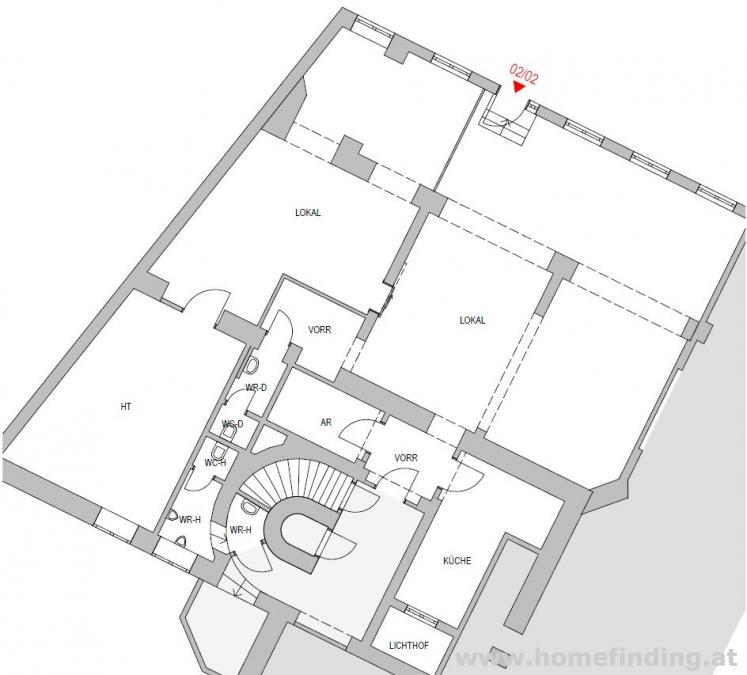 Geschäftsfläche beim Margaretenhof