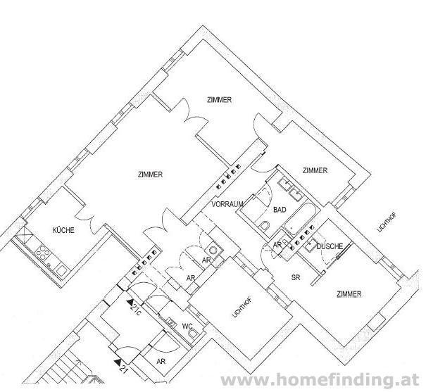 Tuchlauben: Erstbezug: schöne 4 Zimmerwohnung