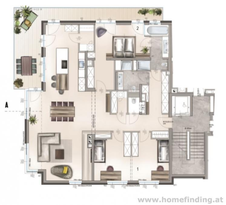 Luxus Wohnung mit Balkon / 3-4 Zimmer