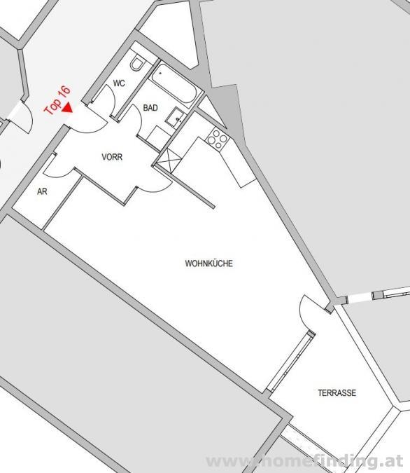 beim Juridikum: schöne 1-Zimmerwohnung mit Terrasse - 5 Jahre befristet