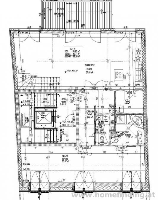 Penthouse mit Dachterrasse in Lainz - befristet