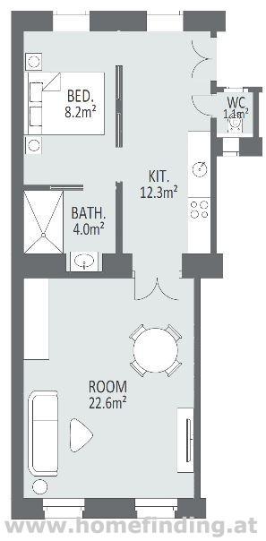 Möblierte 2-Zimmerwohnung nahe Nußdorfer Straße