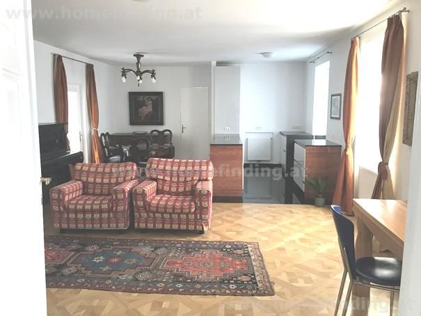 Palais-Wohnung beim Rochusmarkt: 3 Zimmer, möbliert