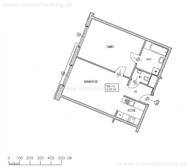gbild -- nahe Währinger Straße: ruhige 2 Zimmerwohnung /  / 1090Wien / Bild 1