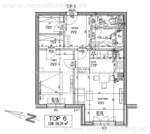Hörndlwald: 2 Zimmerwohnung in Ruhelage /  / 1130Wien / Bild 7