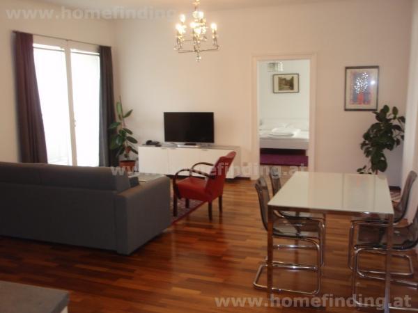 möbliertes Apartment mit Balkon nahe Belvedere